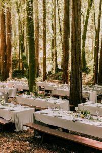woodland wedding reception decorations