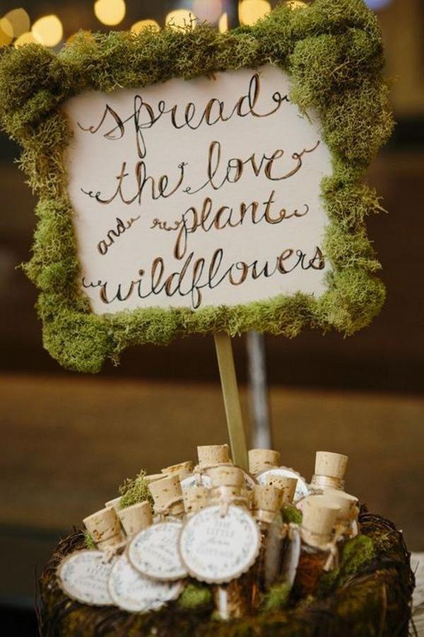 woodland wedding send off decoration ideas