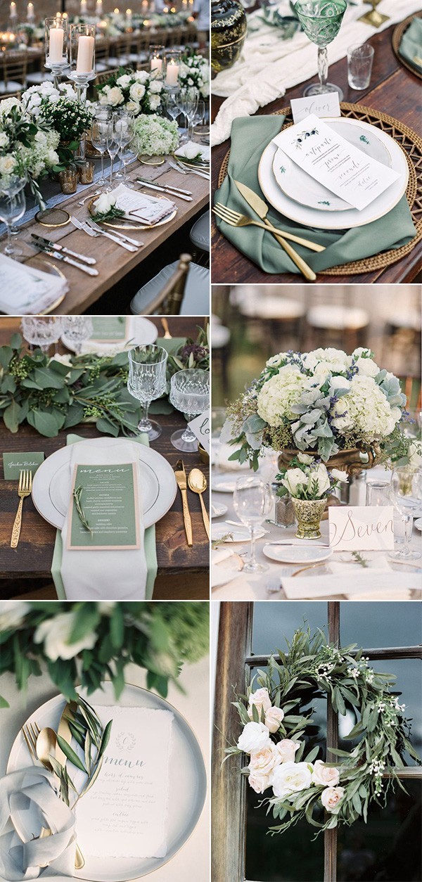 2019 trending sage green wedding decoration ideas