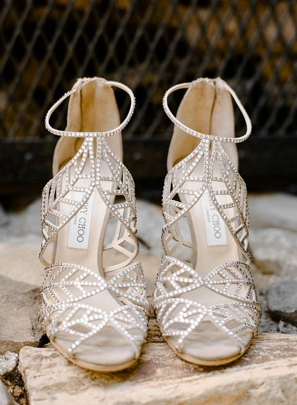 Jimmy Choo beaded neutral wedding shoes
