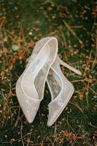Jimmy Choo lace wedding shoes