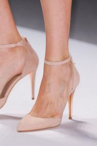 Tadashi Shoji neutral wedding heels
