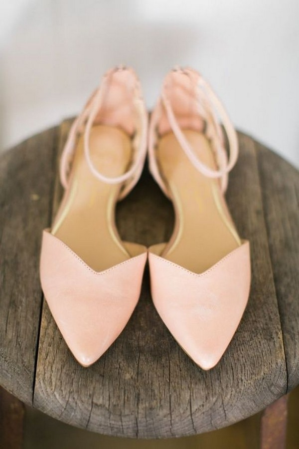 blush pink wedding flats