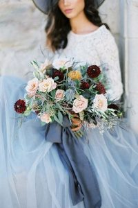 burgundy and dusty blue wedding ideas