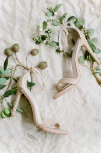 elegant nude color wedding shoes