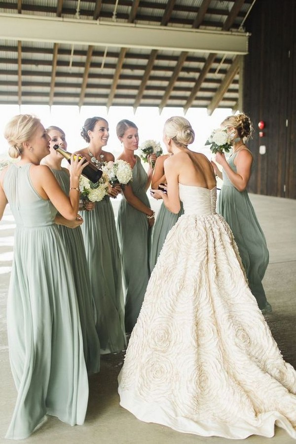 greenery bridesmaid dresses