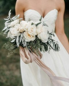 muted floral ethereal wedding bouquet ideas