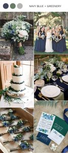 navy blue and greenery wedding color inspiration for 2019