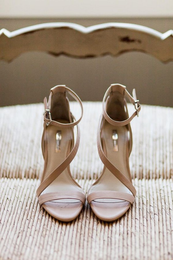 neutral stappy wedding shoes ideas