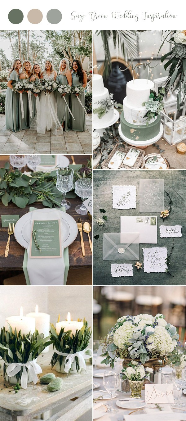 sage green wedding color ideas for 2019 trends