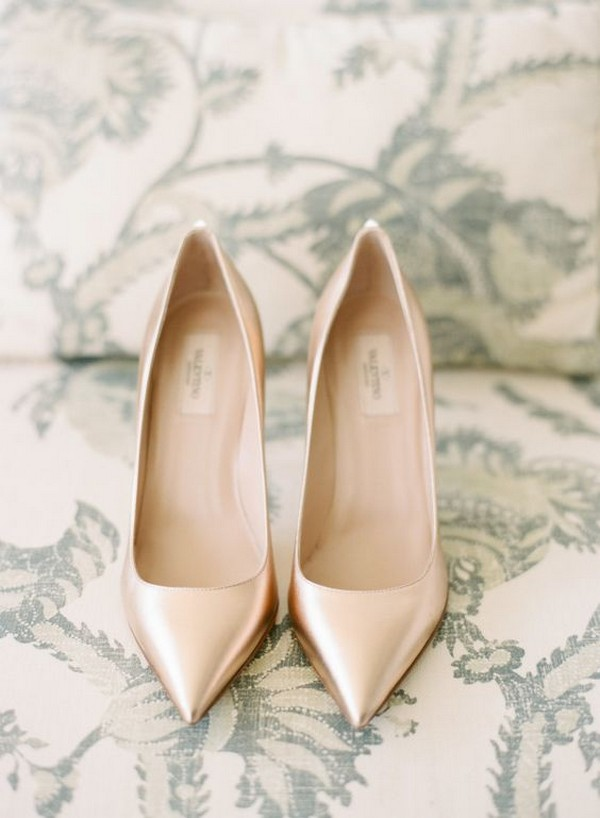simple elegant neutral wedding shoes