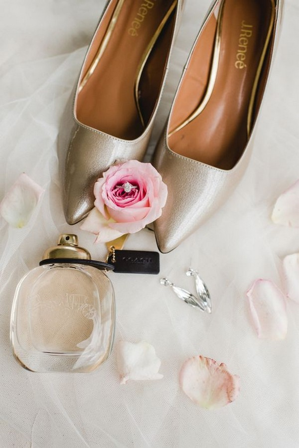 simple neutral wedding shoes ideas