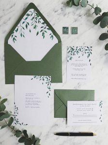 trending greenery wedding invitation set