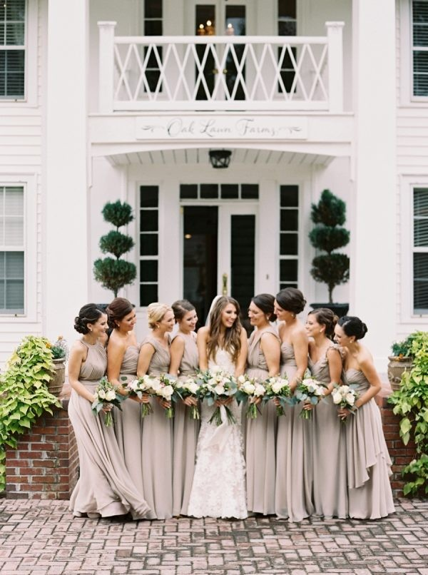 amazing neutral bridesmaid dresses