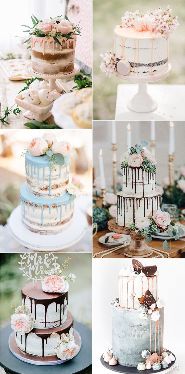 chic drip wedding cake ideas for 2019 trends