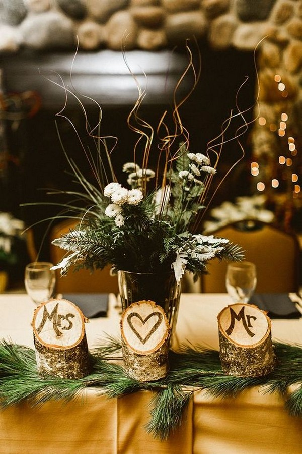 chic winter wedding centerpiece ideas
