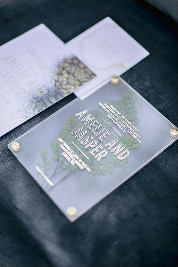elegant acrylic wedding invitation for 2019 trends
