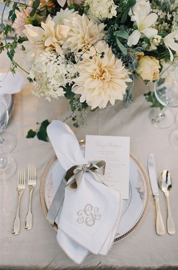 elegant neutral wedding centerpiece ideas