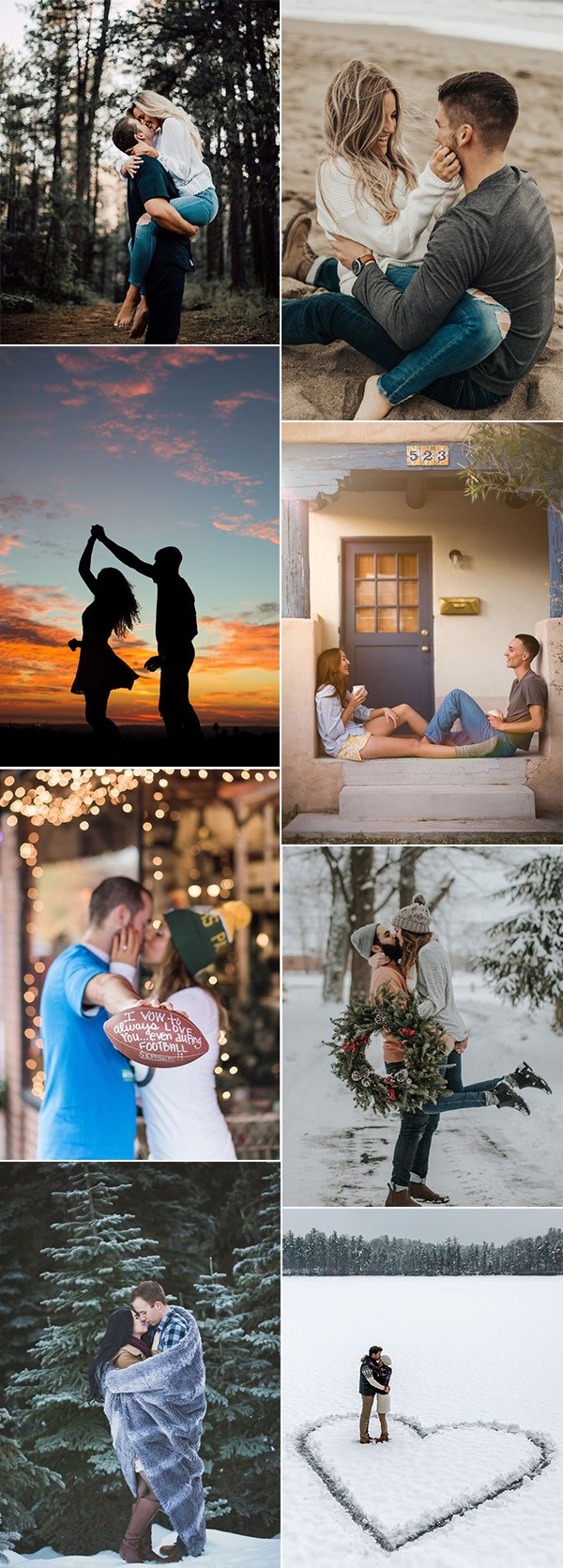 20 amazing wedding engagement photo ideas to get inspired - page 2 of 2