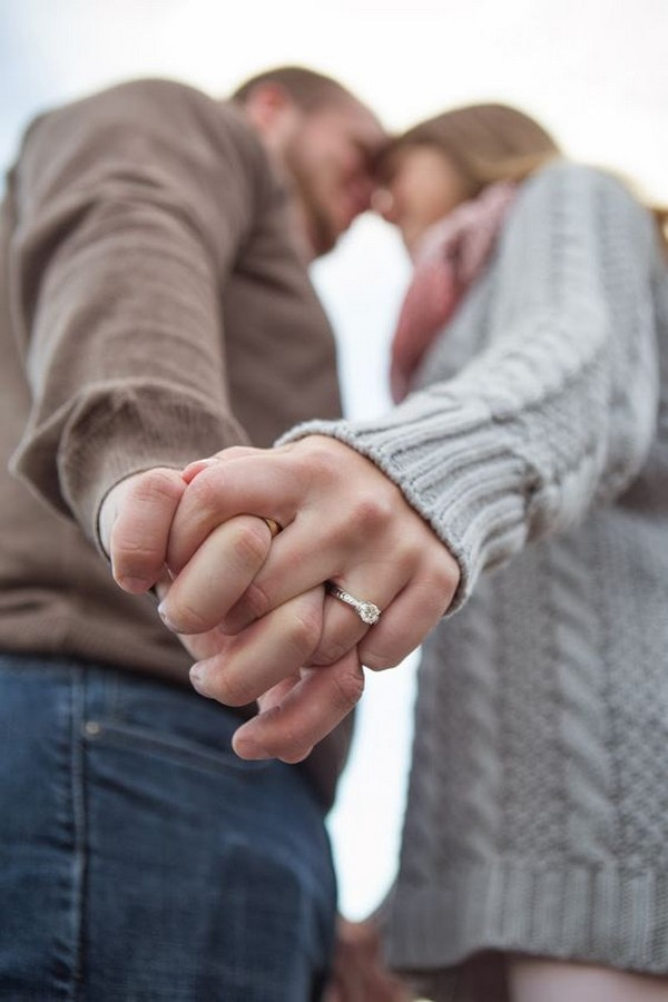 engagement photo ideas with ring shoot