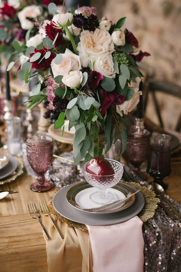 floral winter wedding centerpiece ideas