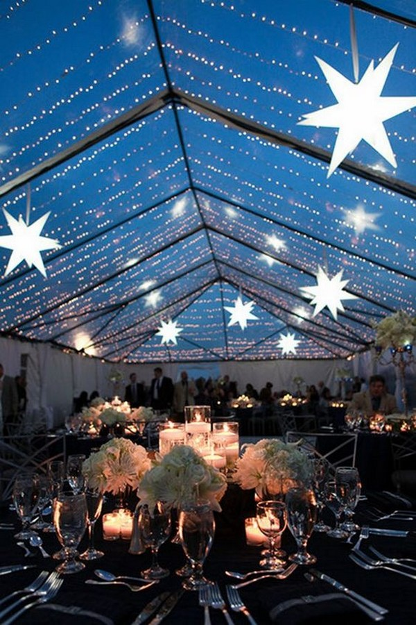 gorgeous starry night wedding reception ideas