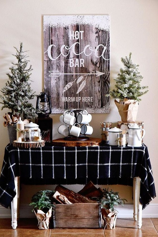 hot chocolate bar for winter bridal shower