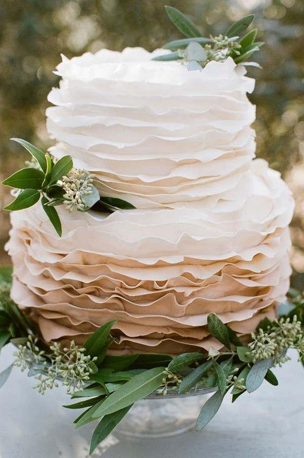neutral colors wedding cake