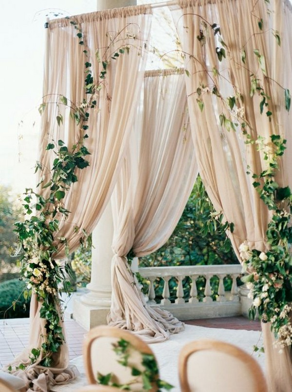 neutral hued wedding arch ideas