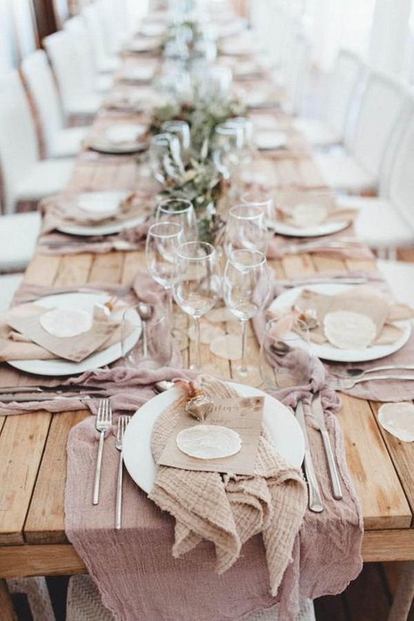 neutral tablescape wedding ideas