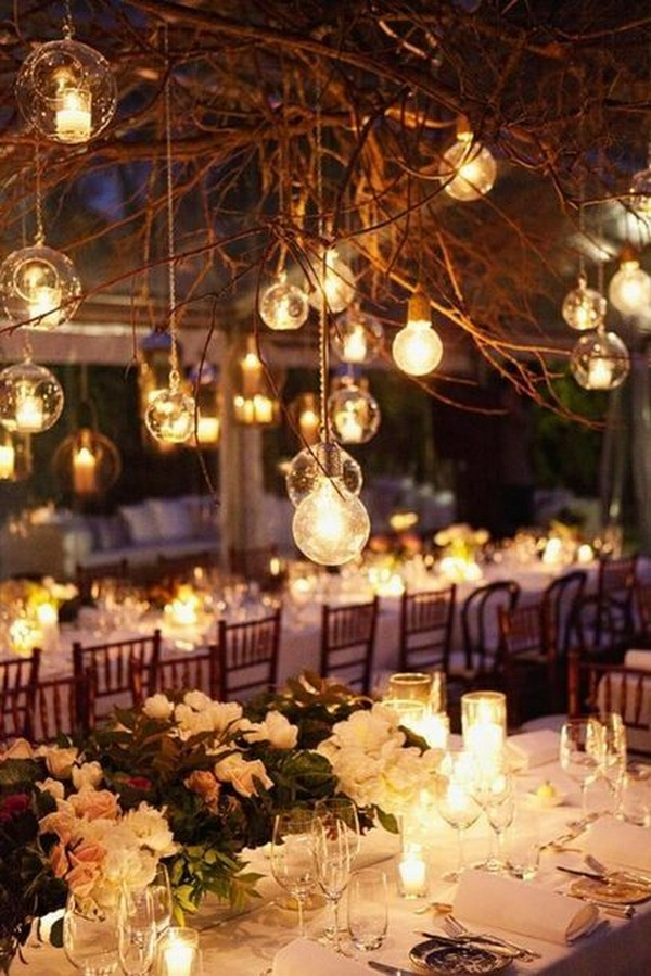 outdoor night wedding reception ideas