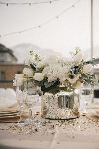 outdoor winter wedding centerpiece ideas