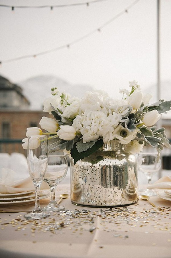 outdoor winter wedding centerpiece ideas