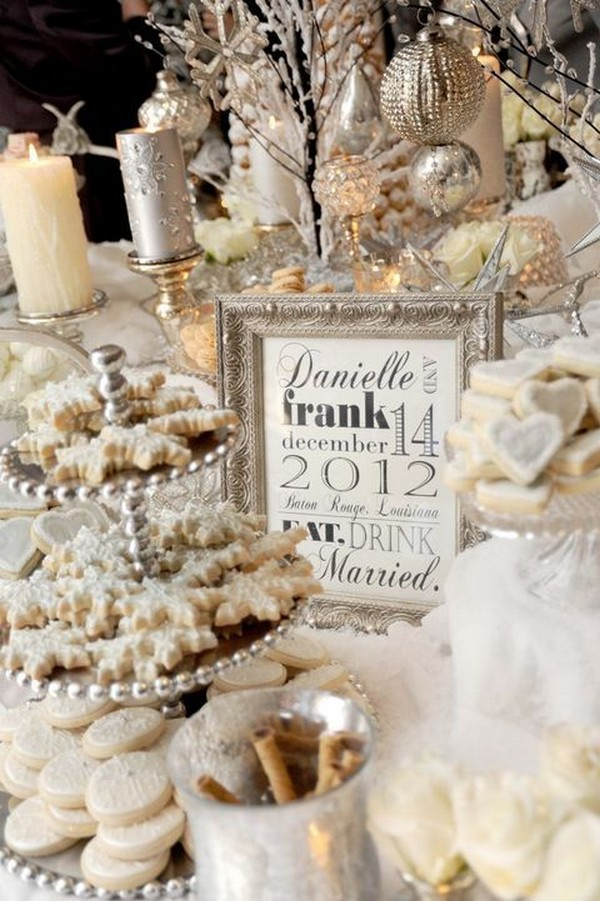 silver winter bridal shower ideas