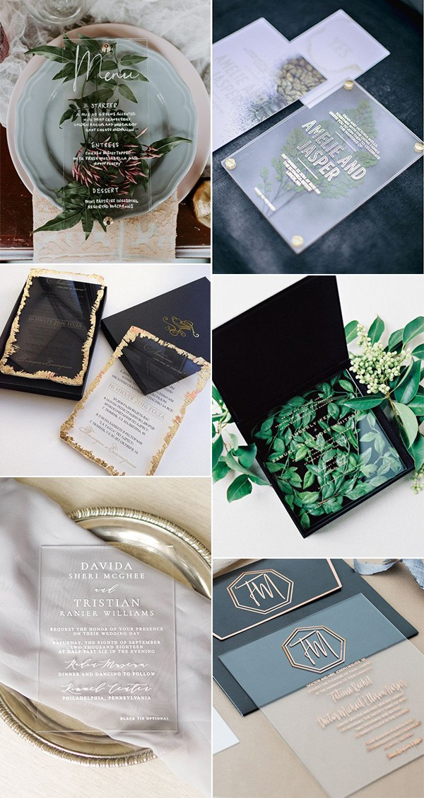 trending acrylic wedding invitation ideas for 2019