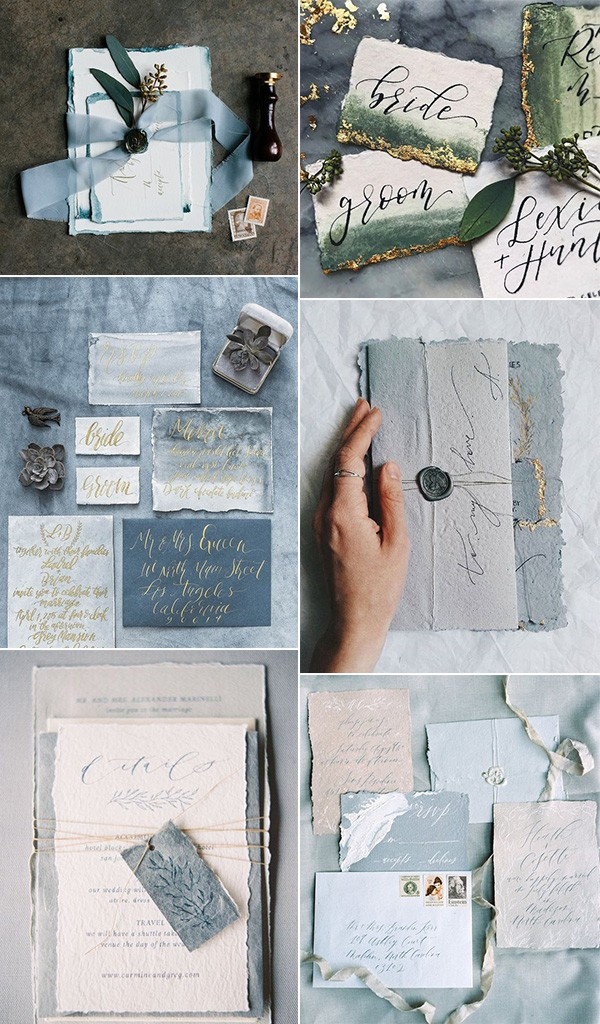 trending cotton rag paper wedding invitations