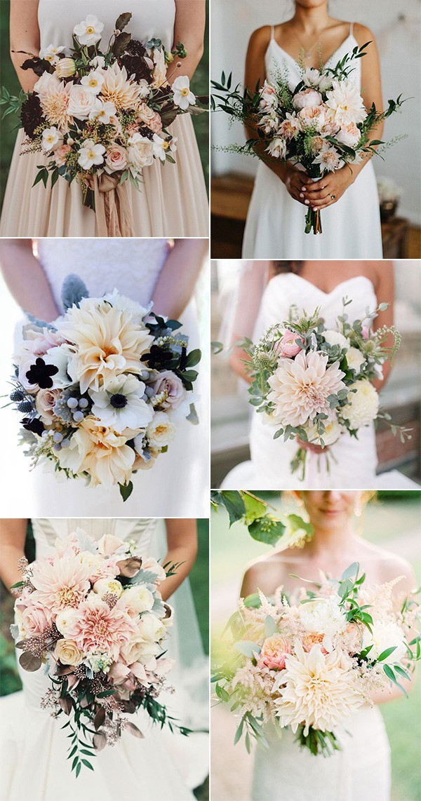 trending dahlia wedding bouquets for 2019