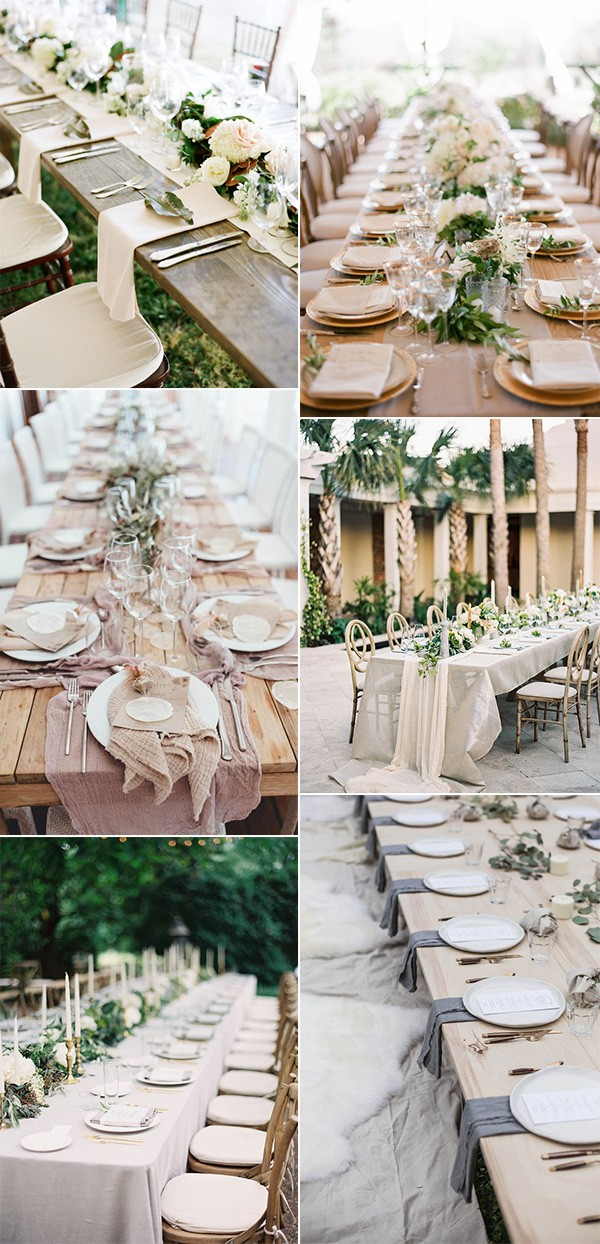 trending elegant wedding table setting ideas