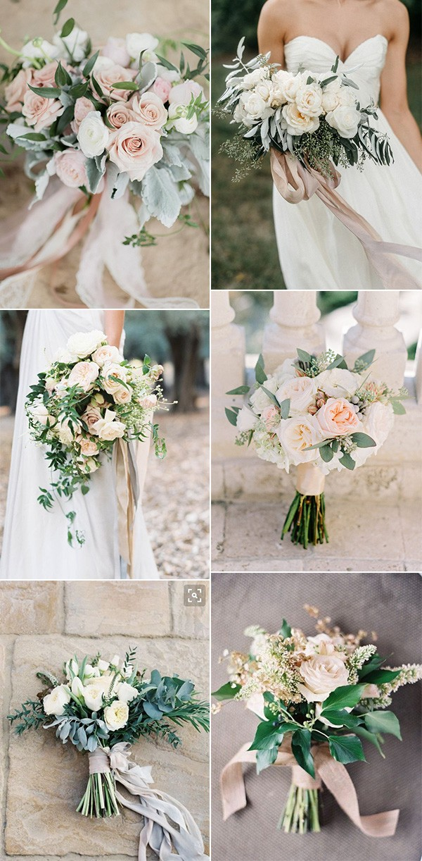 trending neutral wedding bouquets
