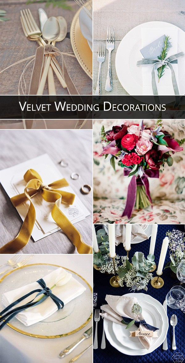 trending velvet wedding decoration ideas