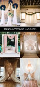 trending wedding backdrop decoration ideas