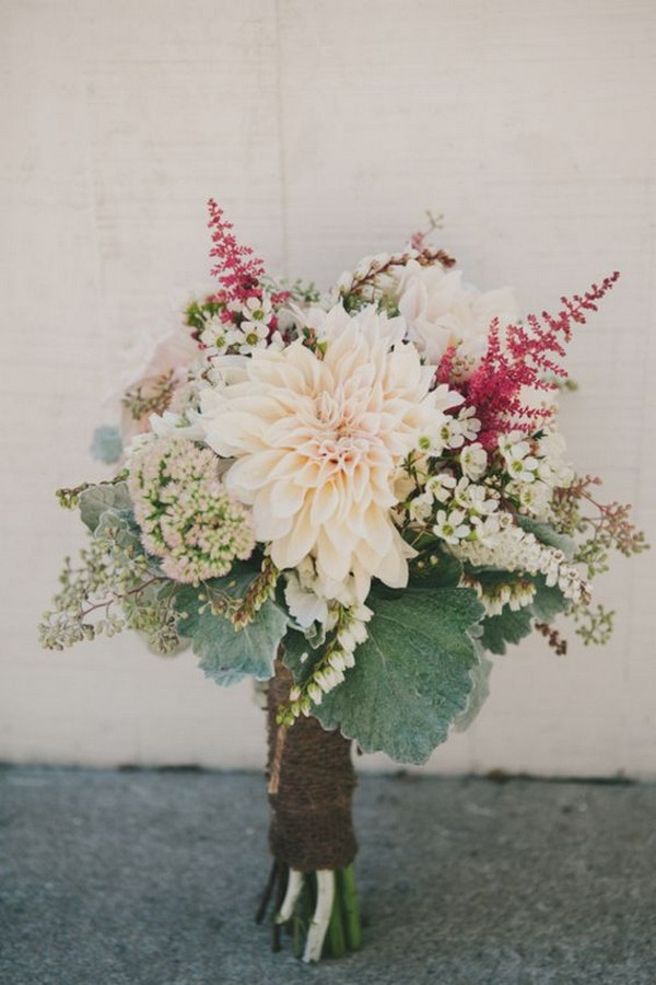 trending wedding bouquet with dahlia