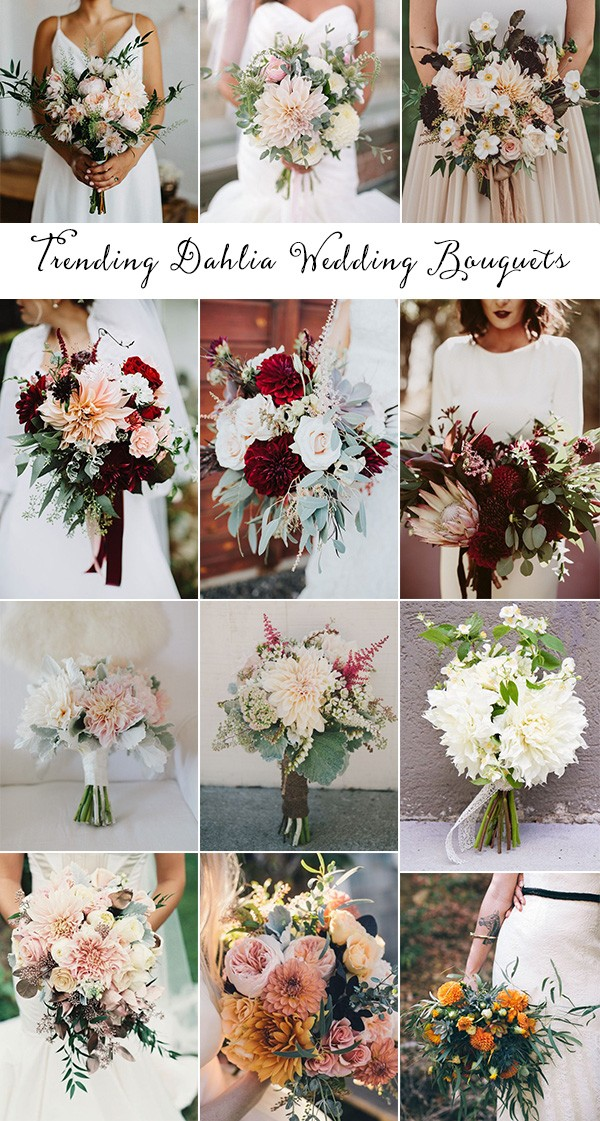 trending wedding bouquets ideas with dahlia