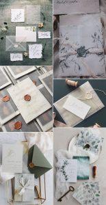 trending wedding invitations with vellum paper envelopes