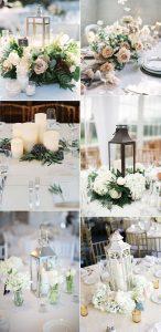 trending winter wedding centerpeice ideas