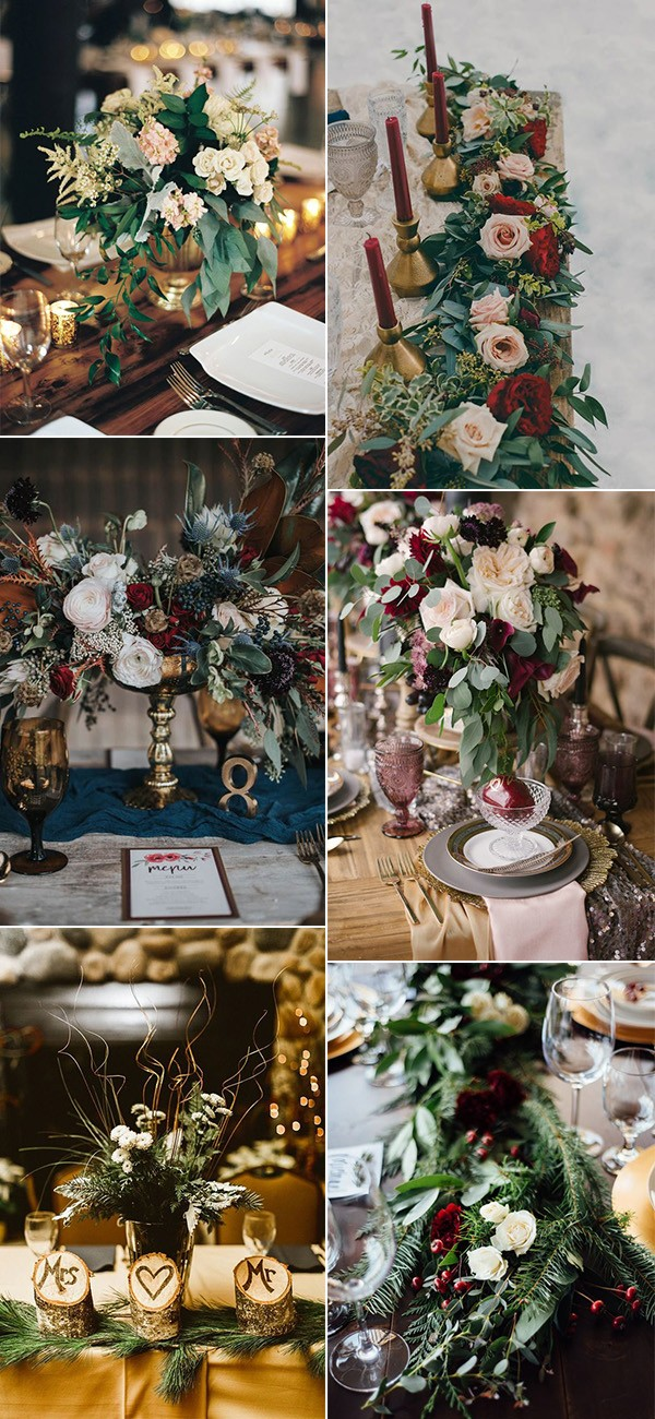 trending winter wedding centerpieces for 2018 and 2019