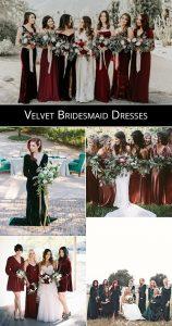 velvet bridesmaid dresses for 2019 trends