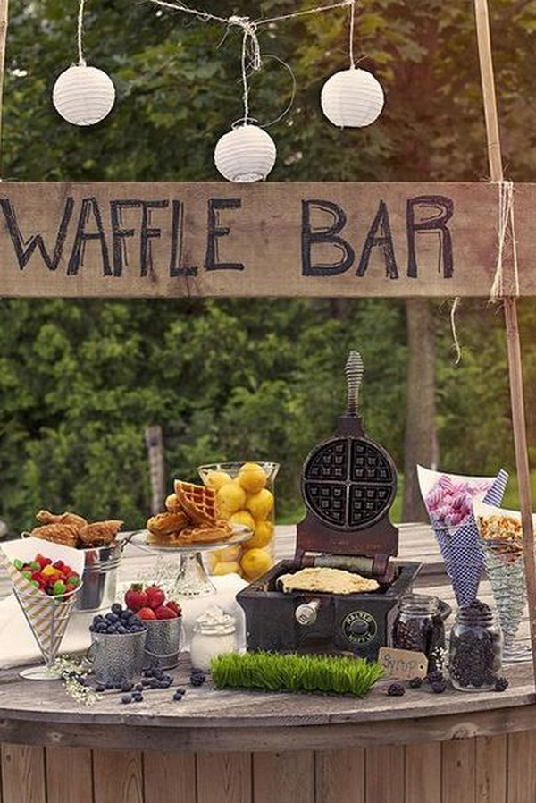 waffle bar winter bridal shower ideas