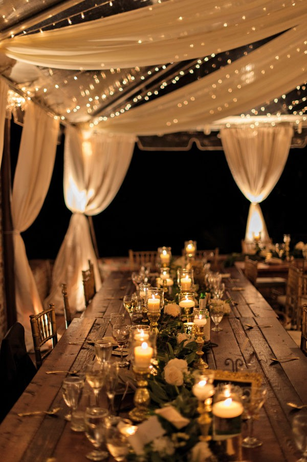 wedding reception decoration ideas with candles and lights