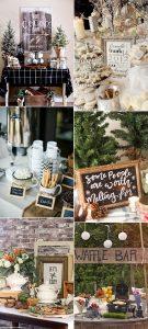 winter bridal shower bar ideas